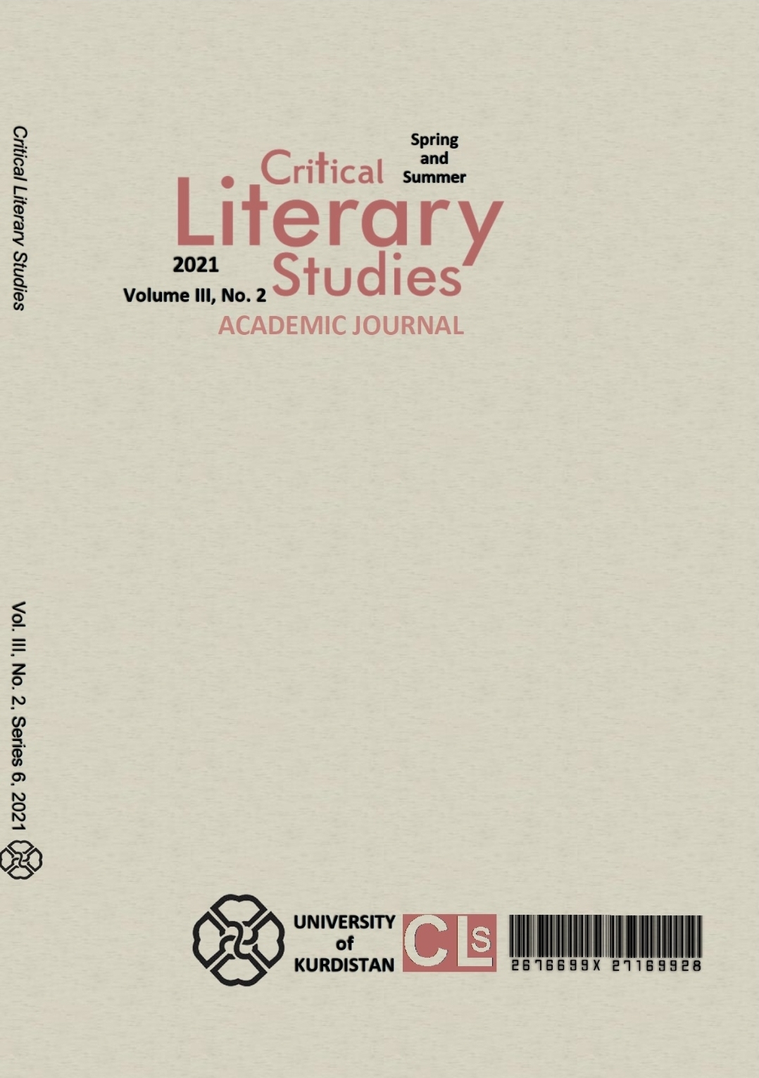 Critical Literary Studies