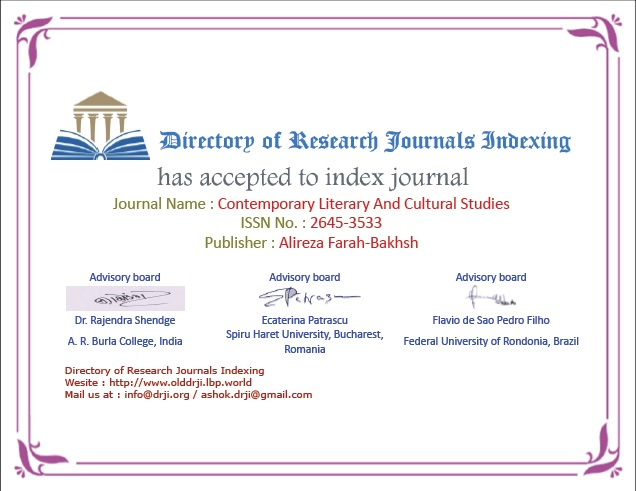 Certificate for Indexing Directory of Research Journals Indexing